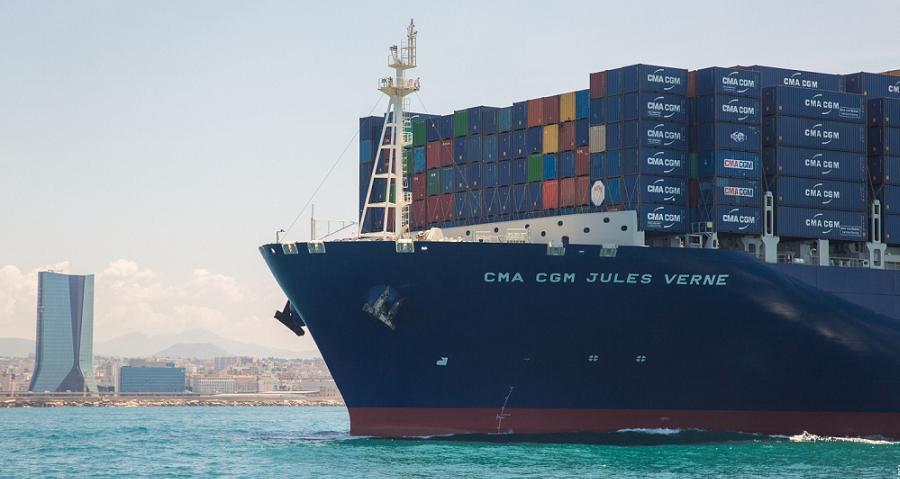 Transport cma cgm inaugure le plus grand porte - Le plus gros porte conteneur du monde ...