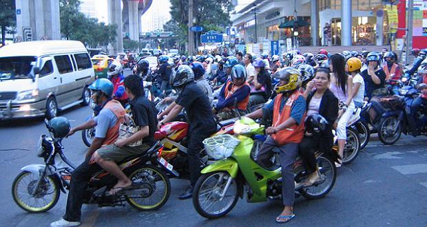 Scooters à Bangkok