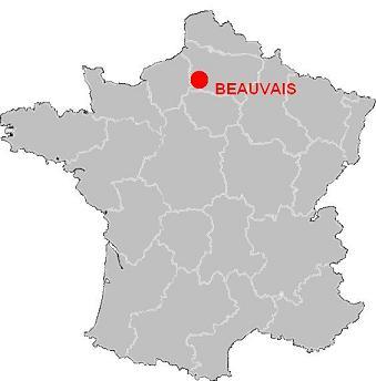beauvais carte de france Beauvais sur la carte de France