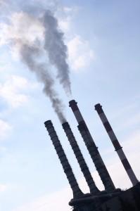 Pollution fum�e chemin�e