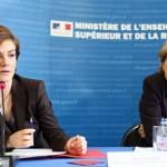 Chantal Jouanno et Valérie Pécresse (crédits MESR Philippe Devernay)
