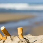 mégots cigarettes sable