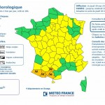 Carte de Vigilance orange Météo France