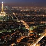 Paris éclairé la nuit