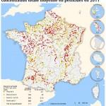 Carte des pesticides en 2011