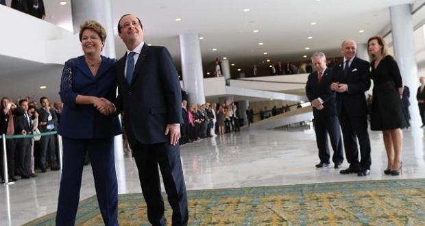 François Hollande au Brésil