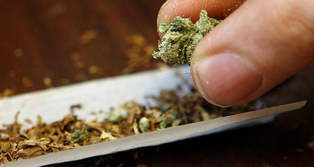 Cannabis cigarette roulée