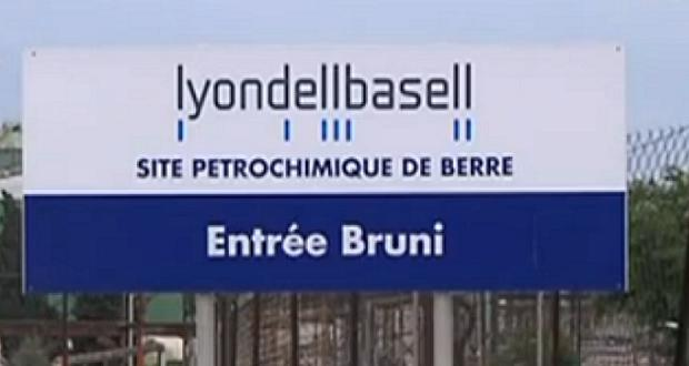 Raffinerie lyondellbasell Berr