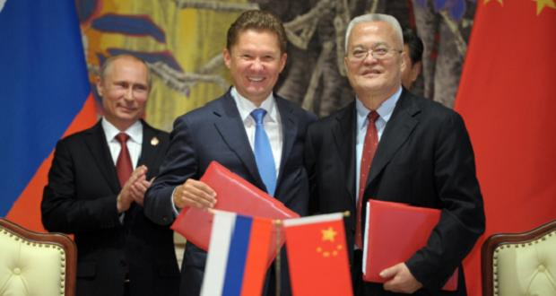 Signature contrat de fourntiure Gazprom - Chine 21 mai 2014